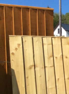 Fencing panels made by West Wales Panels