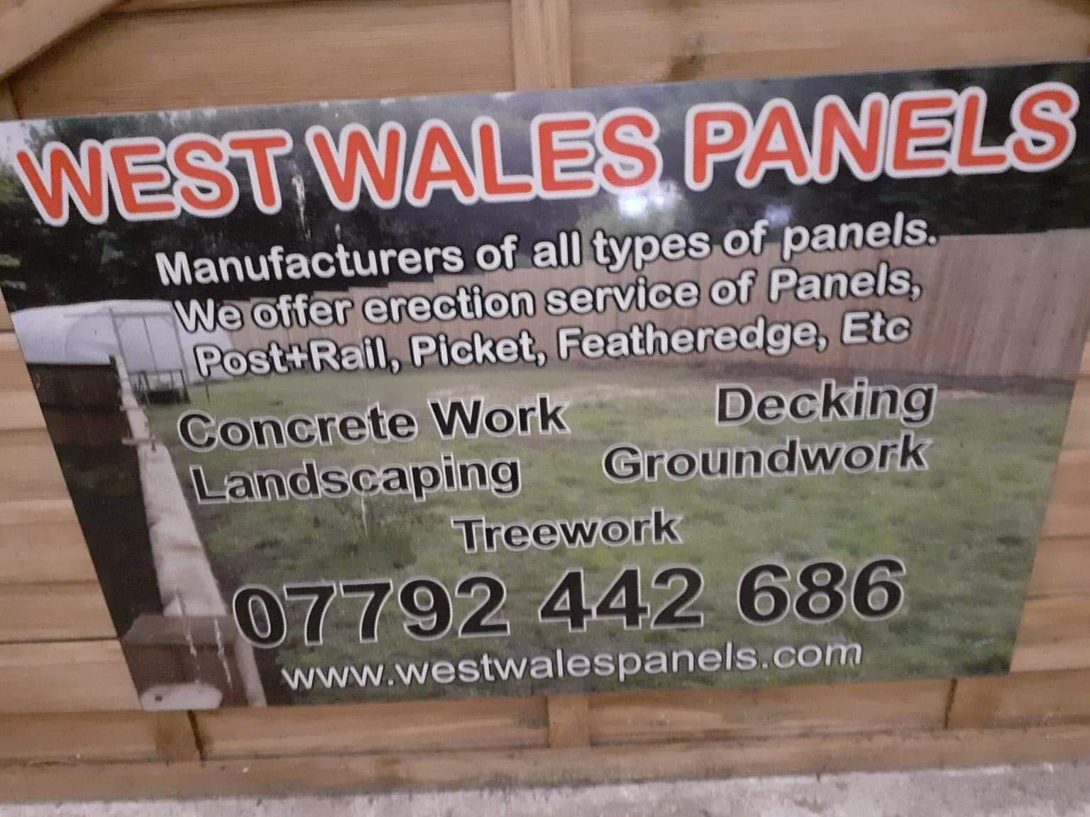 West Wales Panel information card.