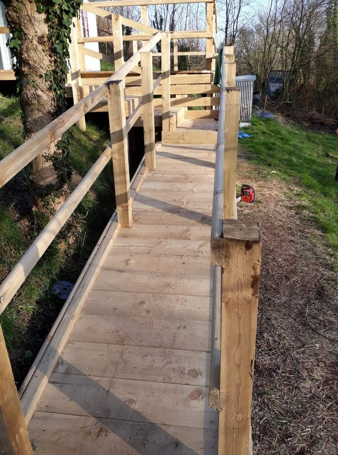 Decking - pathway leading to deck in timber