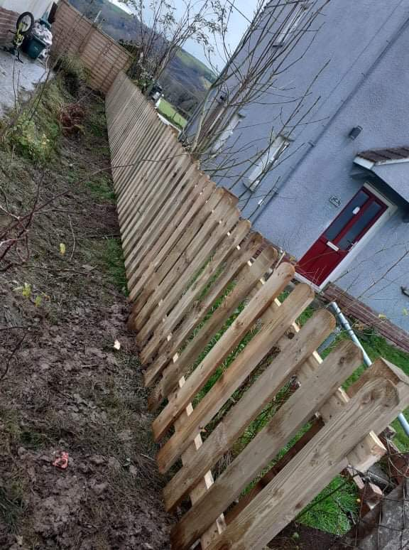 Wooden Picket Fence long view