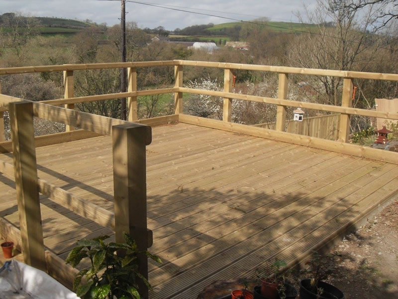 Decking in the sun