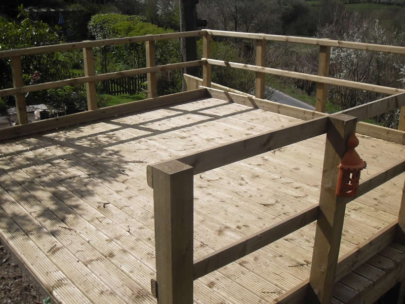 Decking in the sun view 2