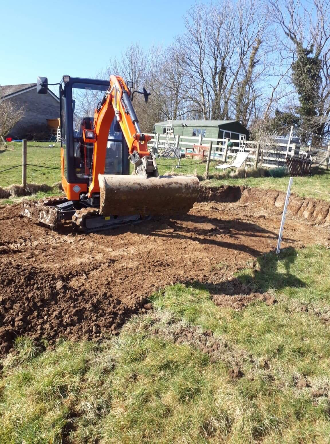 Big Plant for hire from West Wales Panels and Groundworks
