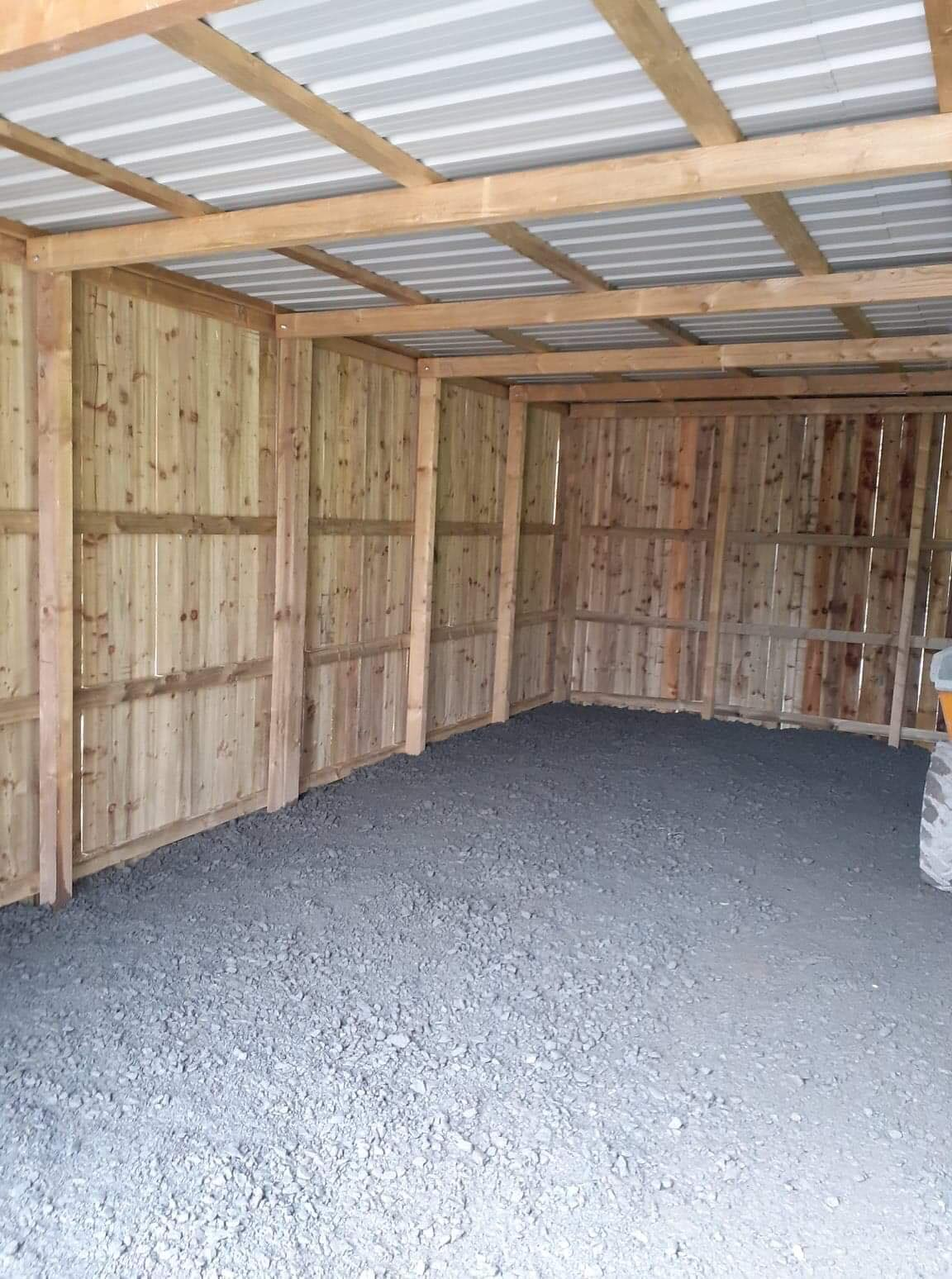 Inside the Storage shed