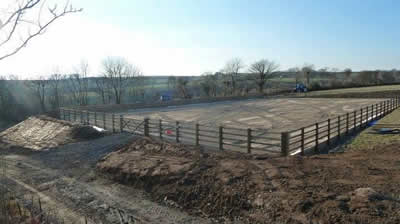Completed Manege and Fencing by West Wales Panels and Groundworks